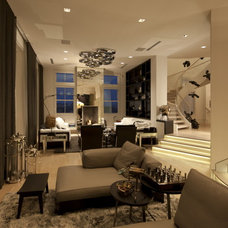 Contemporary Living Room by David De La Garza / ZURDODGS