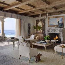 Mediterranean Living Room by Homer Oatman, AIA