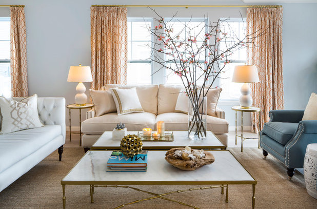 Beach Style Living Room by DLT Interiors