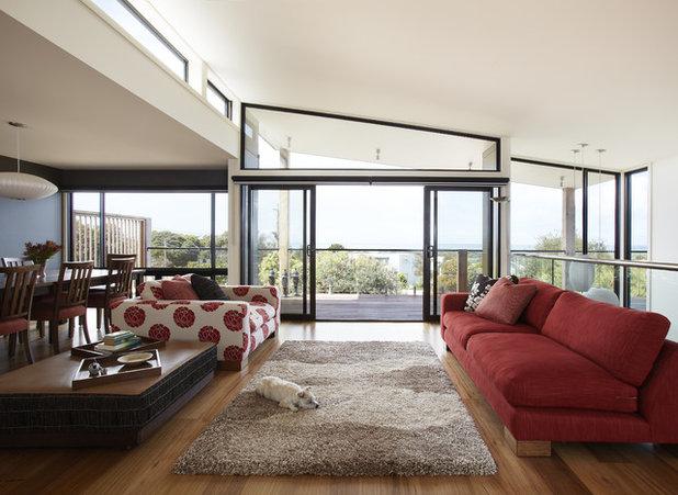 Beach Style Living Room by Simpatico Interior Design