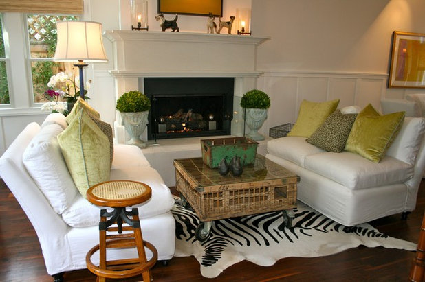 Beach Style Living Room by Kelley & Company Home
