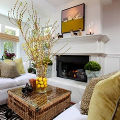 eclectic living room by Kelley & Company Home