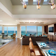 Beach Style Living Room by Urban Pacific Construction Inc