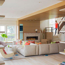 Beach Style Living Room by Andra Birkerts Design