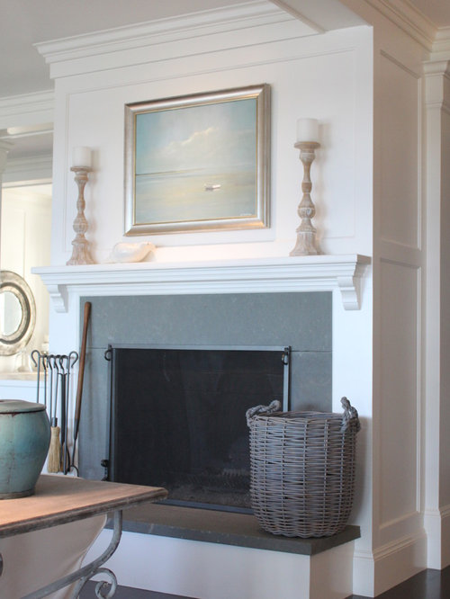 Grey Slate Fireplace Houzz
