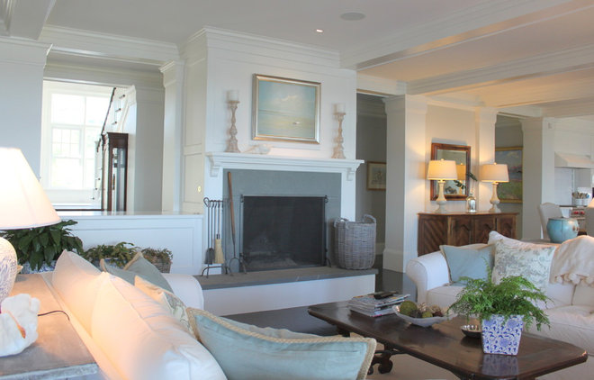 Beach Style Living Room by Molly Frey Design