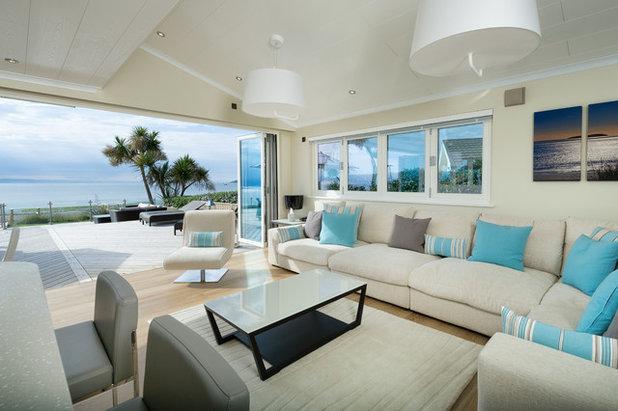 Coastal Living Room by Lissett Homes