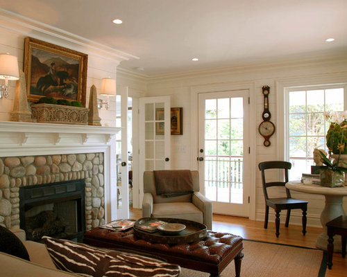 Living Room With Stone Fireplace stone fireplace surround | houzz