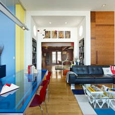 Eclectic Living Room by Form4 Architecture