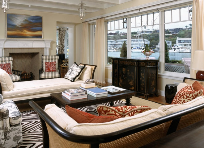 Beach Style Living Room by mark cutler