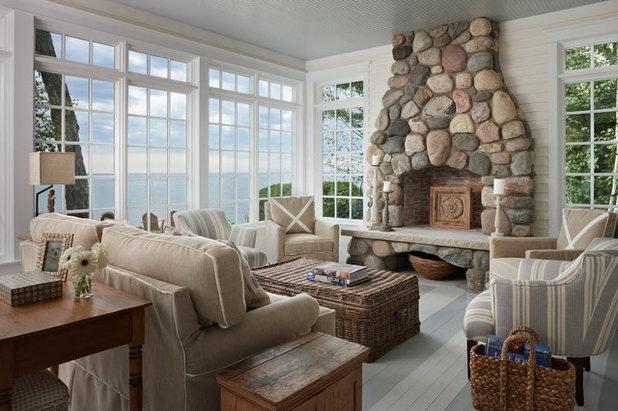 Морской Гостиная Beach Style Living Room