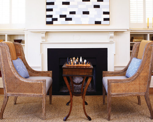 Chairs In Front Of Fireplace | Houzz