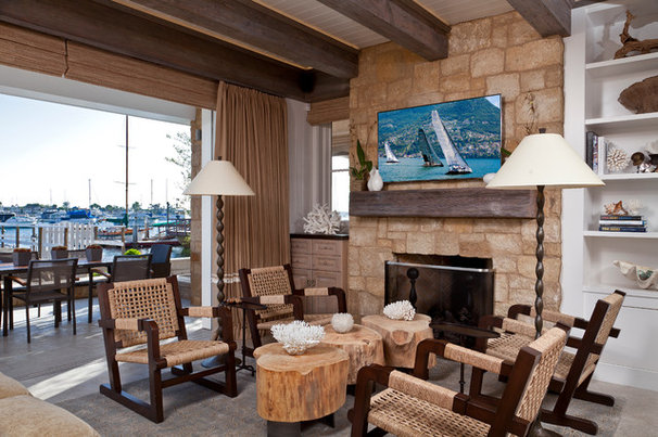 Beach Style Living Room by Anne Michaelsen Design
