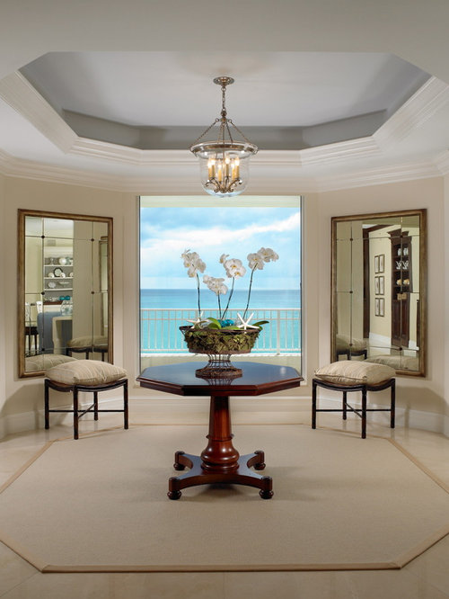 Foyer Tray Ceiling : Coastal foyer houzz