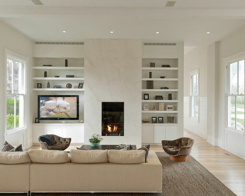 White Marble Fireplace Design Ideas Remodel Pictures Houzz