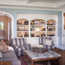 Beach Style Living Room by Norman Design Group, Inc.