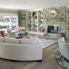 Beach Style Living Room by Robert Legere Design