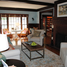Traditional Living Room by Katharyn Hansche Interiors