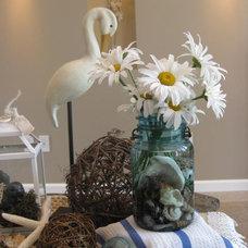 Mediterranean Living Room Beach Vignetttes