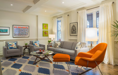 Room of the Day: Color Wakes Up a Living Room