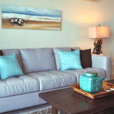 Tropical Living Room by TLC_Designs
