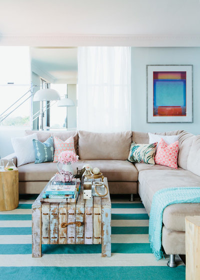 Coastal Living Room by The Home