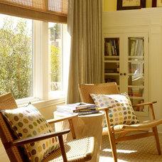 Transitional Living Room by Schippmann Design
