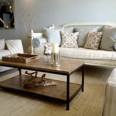 Beach Style Living Room by Chelsea Design Inc