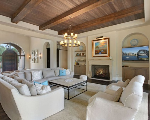 Mediterranean Formal Living Room Design Ideas, Remodels