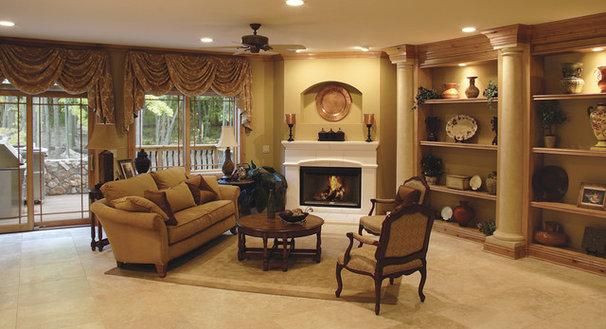 Traditional Living Room by Beaugureau Studios