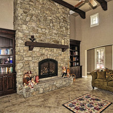Traditional Living Room by Coronado Stone Products