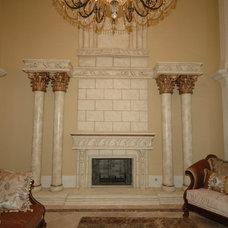 Mediterranean Living Room by Atlantic Construction & Remodeling