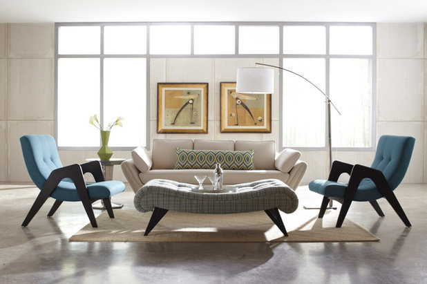 Contemporary Living Room by Angela Scollar Designs - Decorating Den Interiors