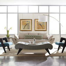 Contemporary Living Room by Angela Scollar Designs - Decorating Den Interiors