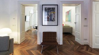 Beautiful Walnut Chevron Floor