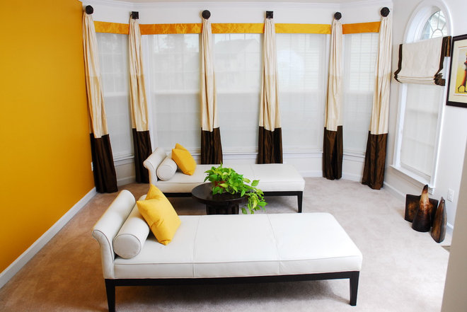 Contemporary Living Room by CPDC Decor Custom Window Treatments