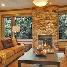 Craftsman Living Room by Citizen Design