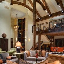 Rustic Living Room by 186 Lighting Design Group - Gregg Mackell