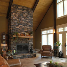 Traditional Living Room by Cornerstone Builders Inc