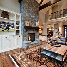 Traditional Living Room by DESIGN GUILD HOMES