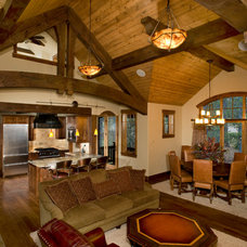 Traditional Living Room by Rockridge Building Company
