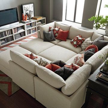 Beckham Pit Sectional by Bassett Furniture