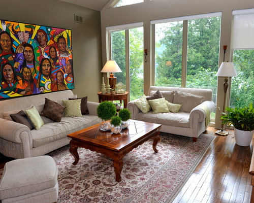 Elegant Living Room Photo In Ottawa With Gray Walls Part 75