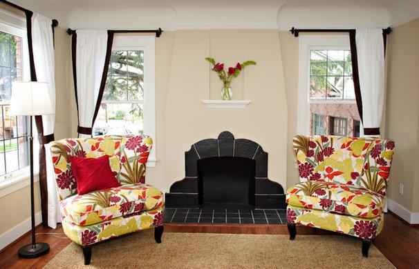 Eclectic Living Room by Tammara Stroud Design