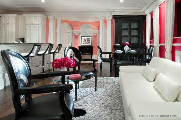 Contemporary Living Room by Beasley & Henley Interior Design