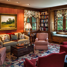 Traditional Living Room by Peter Zimmerman Architects