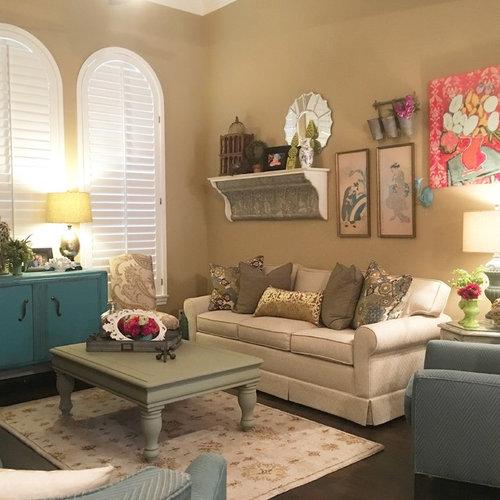 Shabby Chic Style Oklahoma City Living Design Ideas Remodels Photos Houzz