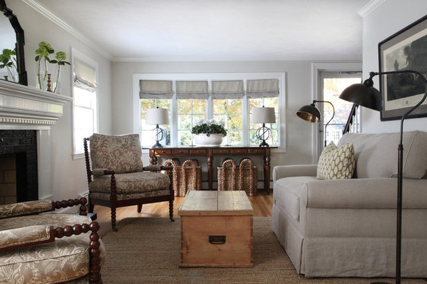 Transitional Living Room by kelly mcguill home