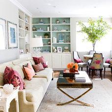Transitional Living Room by Erinn V Design Group