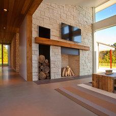 Modern Living Room by Camery Hensley Construction, Ltd